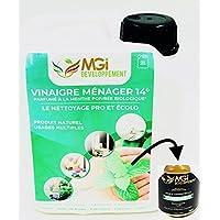 MGI DEVELOPPEMENT 2L vinagre Blanco con 14 ° aceites Esenciales de Menta – para un Limpieza