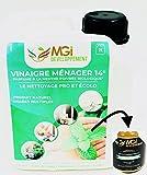 MGI DEVELOPPEMENT 2L vinagre Blanco con 14° aceites Esenciales de Menta–para un Limpieza eficaz y écolo–Calidad Profesional–polivalente: nettoie, Dégraisse, Détartre y Parfume (2litros)
