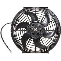 GOZAR 10 Pulgadas 12V Slim Reversible Radiador Eléctrico Ventilador De Refrigeración ...