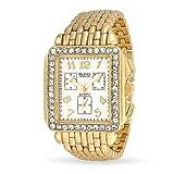 Bling Jewelry Bling banda de metal chapado en oro de joyería de cristal estilo Art Deco reloj...