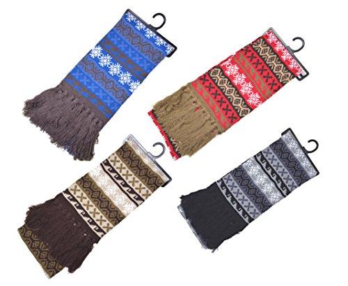 Good Deal Market - Ensemble bonnet, écharpe et gants - Femme Multicolore - Bleu