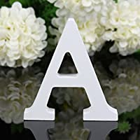 """Freeas Decorative Wood Letters, 26 Letters Wooden Alphabet Wall Letter for Children Baby Name Girls Bedroom Wedding Brithday Party Home Decor-Letters,Height: 8cm/3"""""""