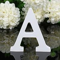 Freeas Dekorative Holz Buchstaben, hängende Wand 26 Buchstaben aus Holz Alphabet Wand Buchstaben für Kinder Baby Name Mädchen Schlafzimmer Hochzeit Geburtstag Party Home Decor-Briefe (A)