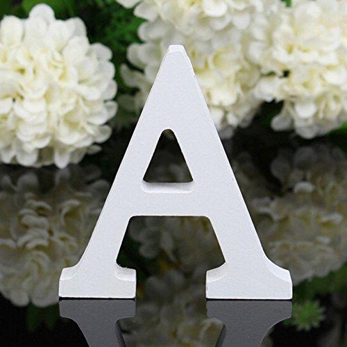 Freeas Dekorative Holz Buchstaben, hängende Wand 26 Buchstaben aus Holz Alphabet Wand Buchstaben für Kinder Baby Name Mädchen Schlafzimmer Hochzeit Geburtstag Party Home Decor-Briefe (A) -