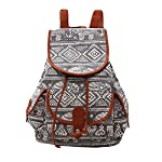 Hosaire 1X Vintage Casual Sweet Womens And Girls Backpack School bag travel bag Gray Canvas (Gray)