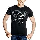 Overwatch Herren T-Shirt Humanitys Champion Winston Baumwolle schwarz - M