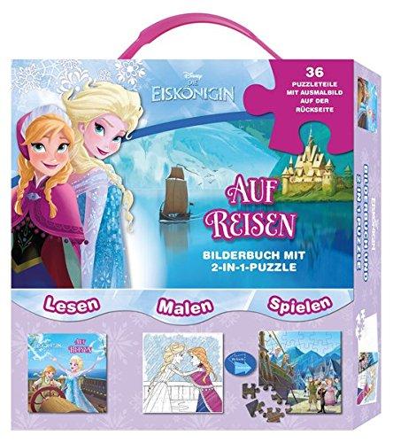 Preisvergleich Produktbild Disney Die Eiskönigin  - Auf Reisen: Box mit Bilderbuch und Puzzle