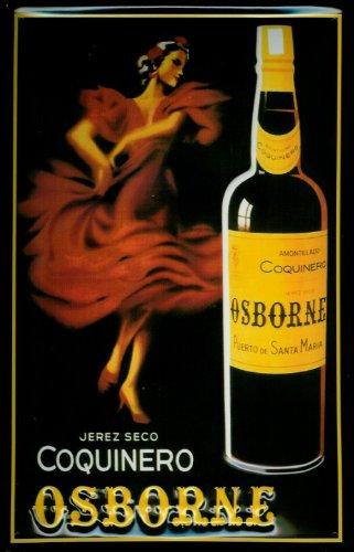 Targa in stile scudo Osborne Coquinero Ballerina scudo beoni cartello pubblicitario scudo