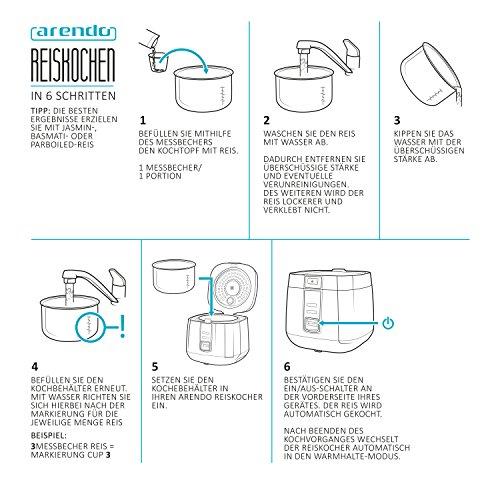 Arendo – Reiskocher – Dampfgarer - 6