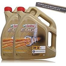 2x 5l = 10litros Castrol Edge Titanium fsttm 5W de 30LL Motor de aceite motores de aceite; Especificaciones/freigaben: Acea C3; MB compartido de 229.31/229.51; VW 50400/507.00