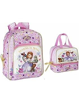 Disney Sofia die Erste - Rucksack und Shopper Tasche; flieder, rosa, weiß