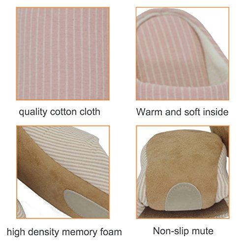 Pantofole Per Casa Da Uomo Maesty-eu Scarpe Per Diapositive Da Interno Per Donna Memory Foam Winter Cotton Home Slipper Yellow