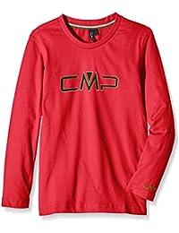 CMP Camiseta Manga Larga  Rojo 164 cm