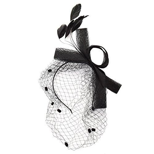 GRACEART Bowknot Fascinador Sombreros Velo Venda