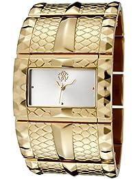 0f381a3c603c Roberto Cavalli 7253272615 - Reloj analógico de cuarzo para mujer con  correa de acero inoxidable