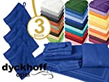 Frottiertücher der Serie Opal - erhältlich in 33 modernen Farben und 7 verschiedenen Größen -Markenqualität von Dyckhoff, 1 Pack (3 Stück) - Waschhandschuhe [16 x 21 cm], kobalt