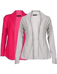 Ten On Ten Women's Shrug (NJ-GRYPNK _Grey/ Pink _Free Size)
