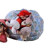 Spielzeug Aufbewahrungstasche, Stofftier Kuscheltiere Aufbewahrung Aufbewahrungstasche Sitzsack Kinder Soft Pouch Stoff Stuhl (Mehrfarbig-2)