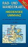 Rad- und Wanderkarte Hiddensee, Ummanz: Mit Ortsplänen von Vitte, Neuendorf, Kloster. Maßstab 1:30.000.