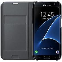 Samsung Flip Wallet - Funda para Samsung Galaxy S7 Edge, color Negro