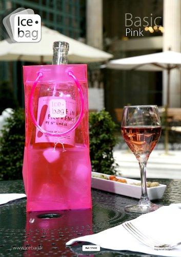 Ice-Bag  Design Collection, Maße 11 x 11 x 25,5 cm Pink/Rosa - Weinkühler - Sektkühler -...