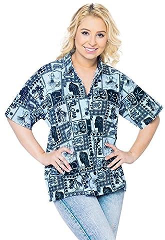 Strand tragen hawaiian Blusen Shirt Frauen beiläufige kurze Hülsenknopf unten oben coverup xxl