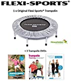 Trampolin-Set: FLEXI-SPORTS® Trampolin inkl. drei Trampolin-DVDs