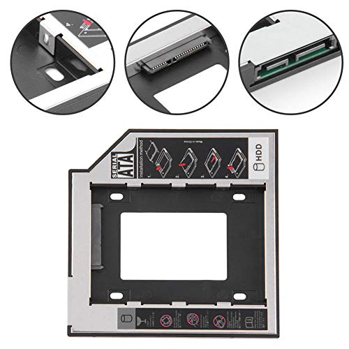 Dandeliondeme HDD-Platzierungshalter, 9,5 mm, Universal SATA 2nd HDD SSD Festplattenhalter für CD/DVD-ROM Optical Bay