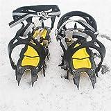 Stronrive Ramponi di Ghiaccio Trazione Manopole da Neve, Mountain Road Ramponi A Forma di Tigre A 18 Denti per Escursionismo Pesca Camminate Arrampicata Jogging Alpinismo