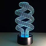 Lampe 3D Vision 7 Changement de couleur Led Bureau Pied Usb Port Lampe Tactile Fixation Table Gadget Créatif...