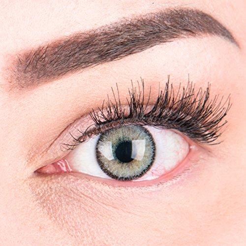 """Sehr stark deckende und natürliche graue Kontaktlinsen SILIKON COMFORT NEUHEIT farbig """"Mirel Grey"""" + Behälter von GLAMLENS - 1 Paar (2 Stück) - DIA 14.00 - ohne Stärke 0.00 Dioptrien - 2"""