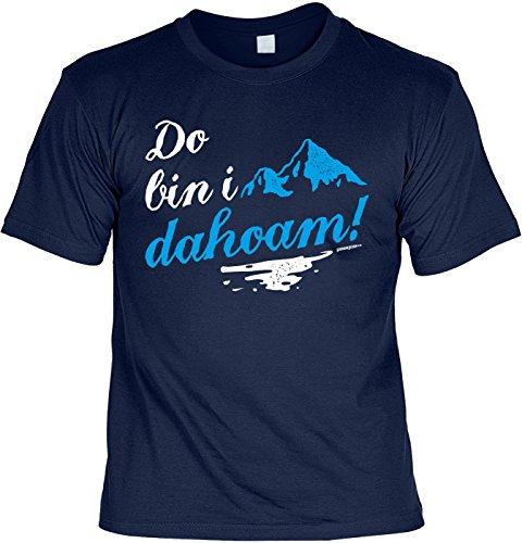 Wander T-Shirt Do bin i dahoam Kletter Bergsteiger Shirt 4 Heroes Geburtstag Geschenk geil bedruckt Navyblau