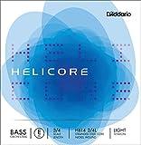 D\'Addario Helicore H614 Orchestral Corde de Mi à tirant faible pour contrebasse 3/4