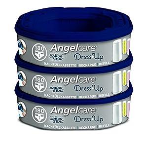 Angelcare AR5003-DE 3er-Pack Nachfüllkassette Dress-Up, blau