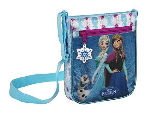 Disney Frozen - Die Eiskönigin Anna und Elsa, Umhängetasche, blau/weiß, 25 x 21 x 4,5 cm (Anna Tasche)
