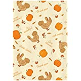 Happy Thanksgiving Day Garden Decorative Flag Be Thankful Turkey Banner Fade And Mildew Resistant 100% Polyester And Waterproof Double Sided Flags 28 X 40 Inch Banners