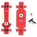 SOLID Eye Kid Kinder Dropthrough Longboard + F26 Skatetool (Rot)