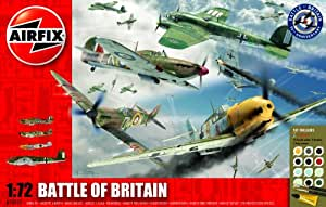 Airfix A50022 Battle of Britain 70th Anniversary 1:72 Scale Military Aircraft Gift Set  with Paint Glue and Brushes