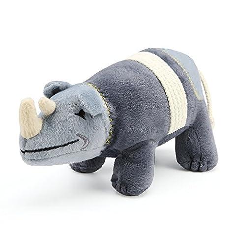 Pro goleem kurz Plüsch quietschend kauen Spielzeug für Haustier Hund (Rhino)