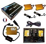 Kit HID Bi Xénon Marque FRANCAISE Vega® H4 HILO 10000K 55W Slim DSP AC ampoules à embase métallique