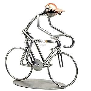metall art design figur fahrrad rennrad. Black Bedroom Furniture Sets. Home Design Ideas