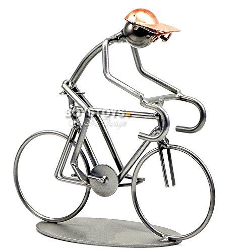 Preisvergleich Produktbild Metall-ART Design Figur Fahrrad Rennrad