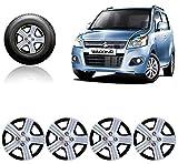 #10: Auto Pearl - Premium Quality Car Full Caps Silver 14 inches Wheel Cover For - Maruti Suzuki WagonR VXI
