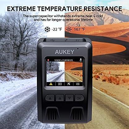 AUKEY-Dashcam-1080P-Kompakte-Autokamera-170-Weitwinkel-WDR-Nachtsicht-Bewegungssensor-Loop-Aufnahme-15-LCD-Stealthcam-inkl-2-Ports-Autoladegert-DR02