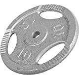 Gorilla Sports Cast Iron Tri Grip Weight Plate 0.5KG - 20KG Colour Silver, Size 5KG