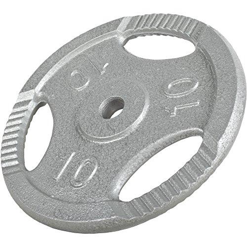 GORILLA SPORTS® Hantelscheiben-Set 30 kg Gusseisen Gripper - 2 x 5 kg, 2 x 10 kg Gewichte mit 30/31 mm Bohrung