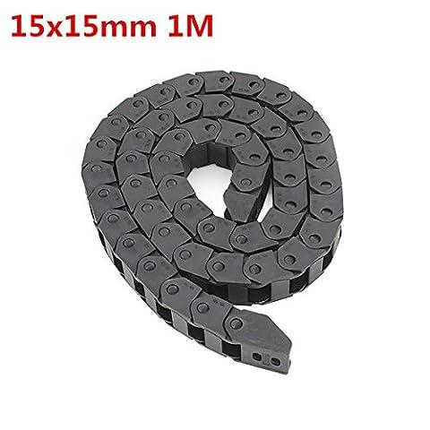 Chenxi Shop 15x 15mm L1000mm Plastique câble Drag Fil de chaîne de transport pour CNC Router machine
