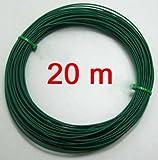 1 Rolle Bindedraht kunststoffummantelt 1,4 mm, Binde Pflanzen Wickel Draht, 20 m (LHS)