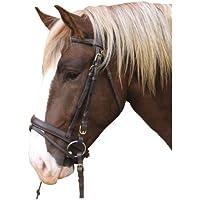 Kerbl Brida, cuero marrón, caballo de tiro