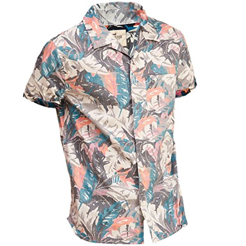 Hollister -  T-shirt - A quadri - Maniche corte  - Uomo Navy Pattern Large
